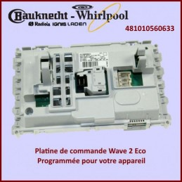 Carte électronique de commande Wave 2 Eco Basic Whirlpool 481010560633 GA-025621