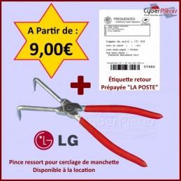 Pince ressort LG 383EER4004 + Étiquette Retour Prépayée GA-100694