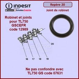 Joint de robinet Indesit C00130943 (repère 20) CYB-057486