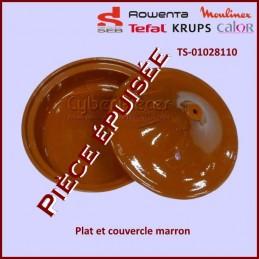 Plat + couvercle marron pour Tajine Seb TS-01028110***Piece epuisee***