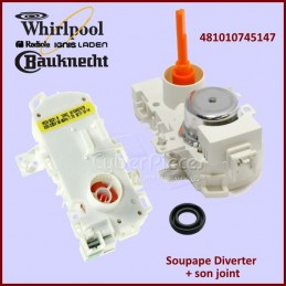 Soupape Diverter Whirlpool 481010745147 (W10457476) MDV8231 CYB-201018