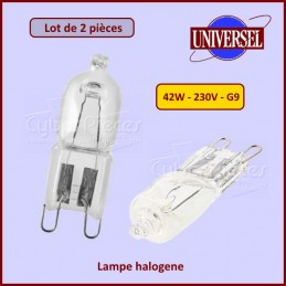 Lot de 2 lampes halogene 42W Culot G9 CYB-039116