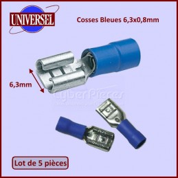 Lot De 5 Cosses Bleues 6,3x0,8mm CYB-234689