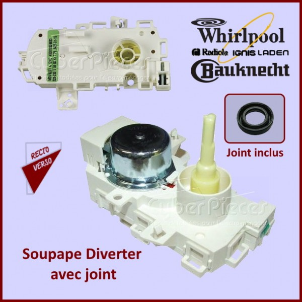 Soupape Diverter Whirlpool 481010745146 (MDV8201 - MDV8202) CYB-079044
