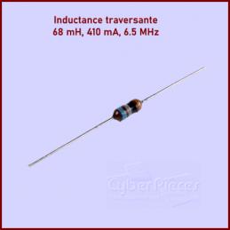 lot de 10 Inductances traversantes, 68 mH, 410mA, 6.5MHz CYB-081856