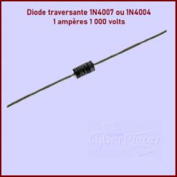 Lot de 100 Diodes traversantes 1A 1000V 1N4004 ou 1N4007 CYB-076869