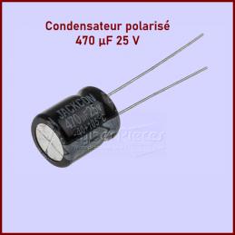 Lot de 25 Condensateurs RS PRO, 470μF, 25V c.c. CYB-324694