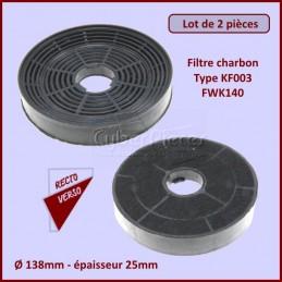 Lot de 2 Filtres charbon Type KF003 - FWK140 CYB-085038