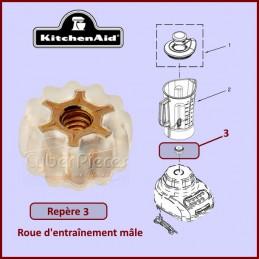 Roue d'entraînement mâle Kitchenaid W10917062 CYB-135184