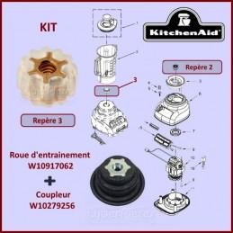 Kit roue d'entrainement et coupleur blender Kitchenaid GA-107464