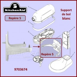 Support de bol blanc Kitchenaid 9703674 CYB-107495