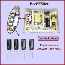 Lot de 4 Condensateurs 1000μF 25V CYB-163323