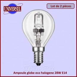 Ampoule globe eco halogene 28W E14 2000H CYB-238267