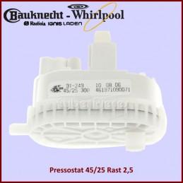 Pressostat 45/25 Rast 2,5 Whirlpool 481227128552 CYB-183710
