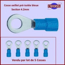 Lot de 5 Cosses oeillet pré-isolée bleue CYB-234702