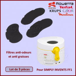 Lot de 3 filtres anti-odeurs SEB XA500025 CYB-417082
