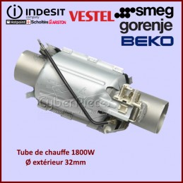 Elément chauffant 1800W - Ø32mm Smeg 806890548 CYB-017763