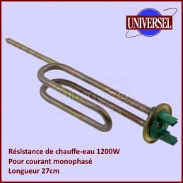 Resistance de chauffe eau 1200W Mono 27cm CYB-044981