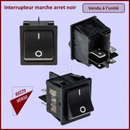 Interrupteur marche arret noir 4 cosses 16A CYB-040303