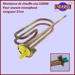 Resistance Chauffe Eau 2200W Mono MTS 27cm CYB-235693