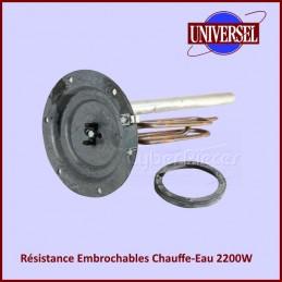 Résistance De Chauffe-eau 2200w mono -blindée Ø 195mm CYB-044820