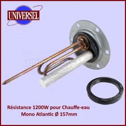 Résistance De Chauffe-eau 1200w mono Atlantic Ø 157mm CYB-044752