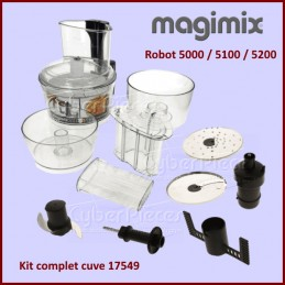Kit complet cuve Magimix 17549 robot 5000 / 5100 / 5200 CYB-025997