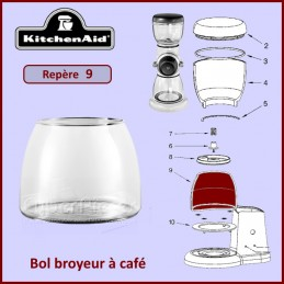 Bol broyeur à café Kitchenaid 4176728 CYB-375221