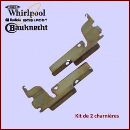Kit de 2 charnières Whirlpool 481241718309 CYB-126434