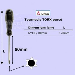Tournevis Torx percé n°10 -...