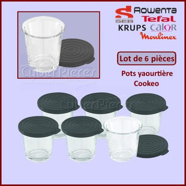 Lot de 6 pots yaourtière Cookeo XA606000 CYB-258760