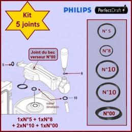 Lot de 5 Joints Perfectdraft HD3720 HD3620 HD3610 HD3600 CYB-132947