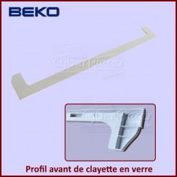 Profil avant de clayette en verre Beko 4864610200 CYB-263030