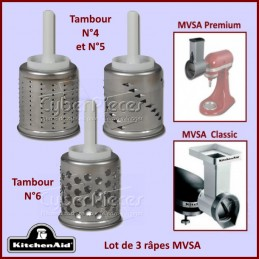 Kit de 3 Râpes EMVSC pour coupe-légumes MVSA Kitchenaid 62011 CYB-077002