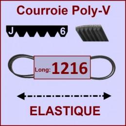 Courroie 1216J6 - EL- élastique CYB-183970