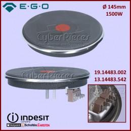Plaque de cuisson 1500W Diam 145mm Ego 13.14483.542 CYB-405089