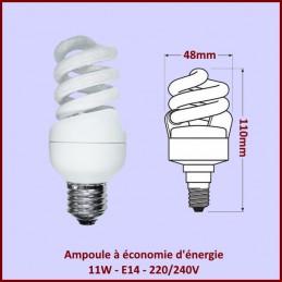 Ampoule spirale 11W - E14 - 220/240V CYB-233682