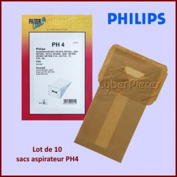 Lot de 10 sacs aspirateur PH4 - 000093K CYB-320757