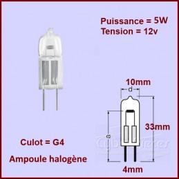 Ampoule halogène G4 12V 5w CYB-100151