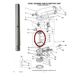 Arbre central Kichenaid 240026 - Repère 12 CYB-156752