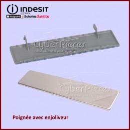 Poignée avec enjoliveur inox Indesit C00113004 GA-054713