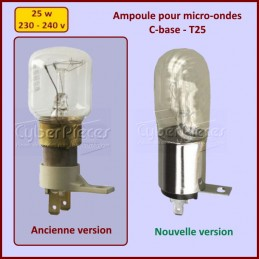 Ampoule pour micro-ondes C-base - T25 - 25W - 240V CYB-033244