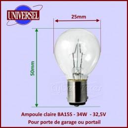 Ampoule BA15S - 34W - 32,5V Porte de garage CYB-418256