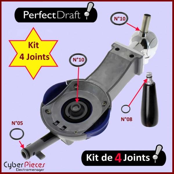 Lot de 4 Joints Perfectdraft HD3720 HD3620 HD3610 HD3600 CYB-019927