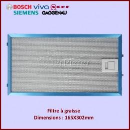 Filtre graisse 165X302mm Bosch 11004960 CYB-068178